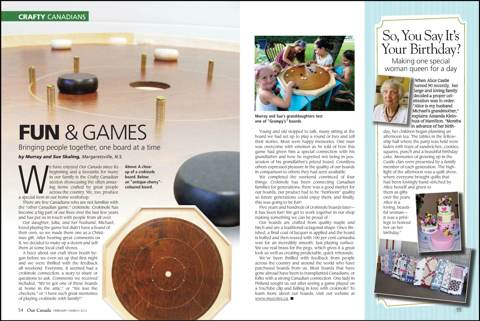 Crokinole Magazine Article Our Canada