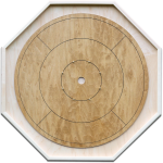 "Traditional Octagon Crokinole Board, with ""Annapolis"" finish."