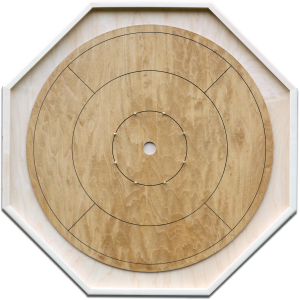 """Traditional Octagon Crokinole Board, with """"Annapolis"""" finish."""