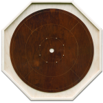 "Traditional Octagon Crokinole Board, with ""Fundy"" finish."