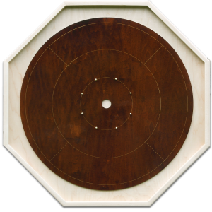 """Traditional Octagon Crokinole Board, with """"Fundy"""" finish."""